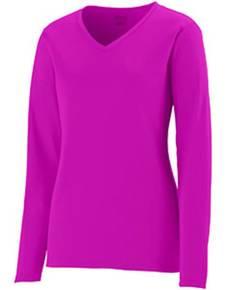 Augusta Sportswear 1789 Girls' Wicking Long-Sleeve T-Shirt