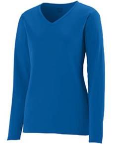 Augusta Drop Ship 1789 Girls' Wicking Long-Sleeve T-Shirt