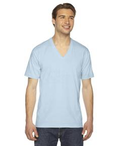 American Apparel 2456 Unisex USA Made Fine Jersey Short-Sleeve V-Neck T-Shirt