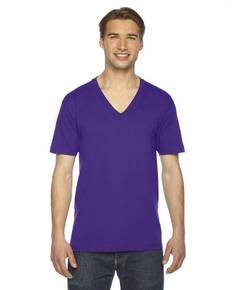 American Apparel 2456 Unisex USA Made Fine Jersey Short-Sleeve V-Neck T-Shirt