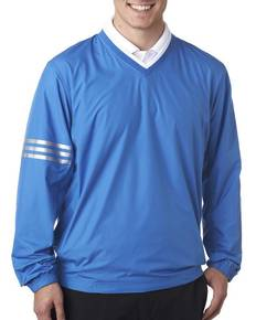 adidas-golf-a147-men-39-s-climalite-colorblock-v-neck-wind-shirt