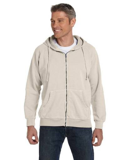 comfort colors c1563 10 oz. garment-dyed full-zip hood front image