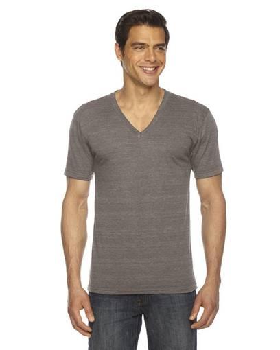 american apparel tr461 unisex triblend short-sleeve v-neck t-shirt front image