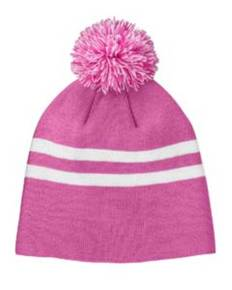 Team 365 TT122 Striped Pom Beanie