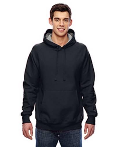 hanes n270 adult 7.2 oz. nano pullover hood front image