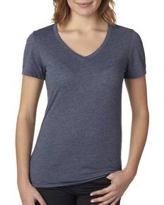 Next Level 6044 Ladies' Poly/Cotton V-Neck Tee