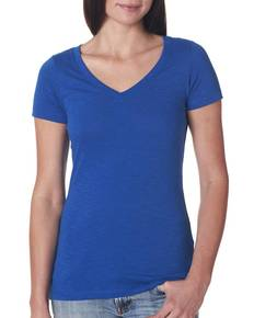 Next Level 6840 Ladies' Slub Crossover V-Neck Tee