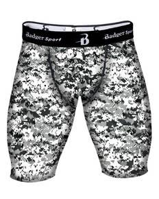 "Badger B4608 Men's Digital Compression 8"" Shorts"
