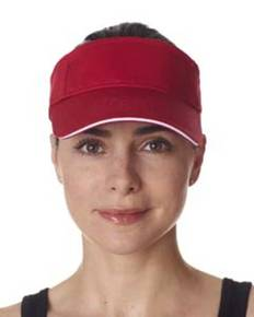 ultraclub-8113-adult-classic-cut-brushed-cotton-twill-sandwich-visor