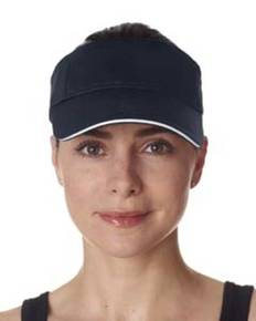 UltraClub 8113 Adult Classic Cut Brushed Cotton Twill Sandwich Visor