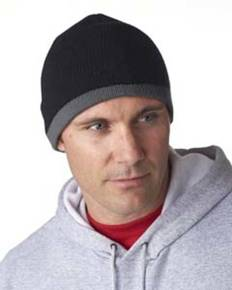 UltraClub 8132 Adult Two-Tone Knit Beanie