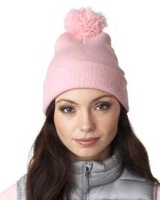 UltraClub 8136 Adult Knit Pom-Pom Beanie with Cuff