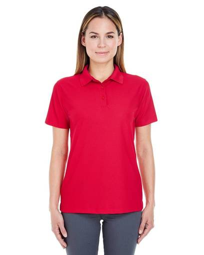 ultraclub 8240l ladies' cool & dry pebble-knit polo front image