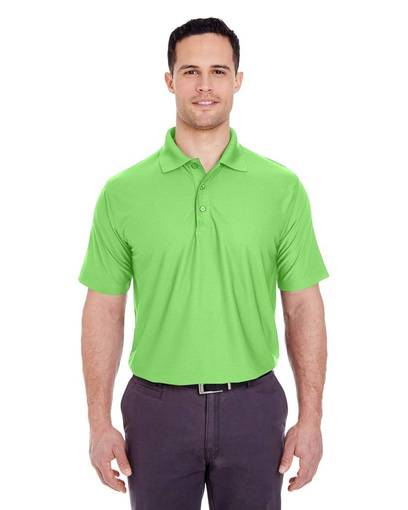 ultraclub 8250 men's cool & dry box jacquard performance polo front image