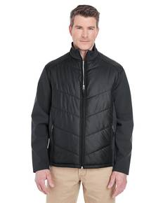 UltraClub 8295 Adult Soft Shell Jacket with Quilted Front & Back