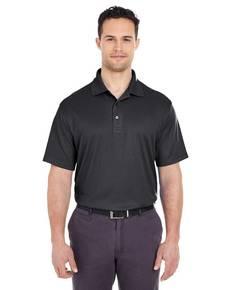 UltraClub 8305 Men's Cool & Dry Elite Mini-Check Jacquard Polo