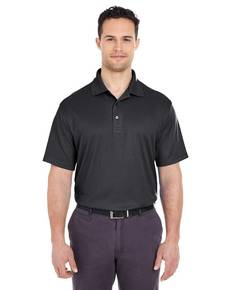 UltraClub 8305 Men's Cool & Dry Elite Mini-Check Jacquard Polo