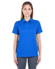 UltraClub 8305L Ladies' Cool & Dry Elite Mini-Check Jacquard Polo