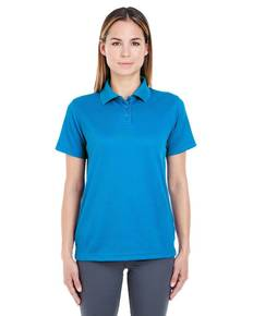 UltraClub 8305L Ladies' Cool & Dry Elite Mini-Check Jacquard Polo