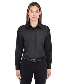 UltraClub 8331 Ladies' Performance Poplin