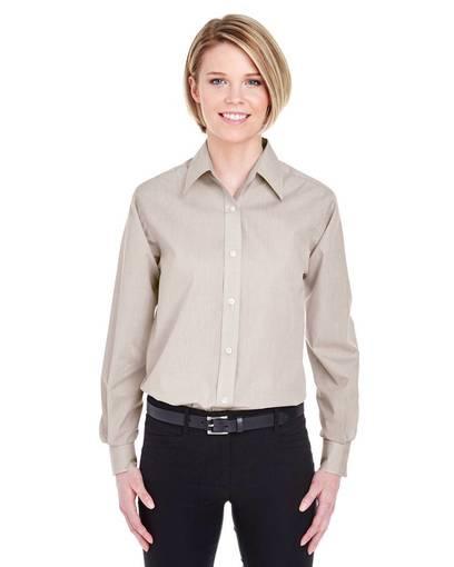 ultraclub 8341 ladies' wrinkle-resistant end-on-end front image