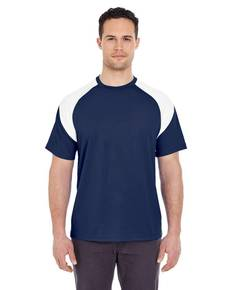 UltraClub 8399 Adult Cool & Dry Sport Colorblock T-Shirt
