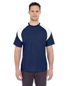 UltraClub 8399 Adult Cool & Dry Sport Colorblock T-Shirt