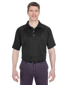 UltraClub 8409 Adult Cool & Dry Sport Shoulder Block Polo