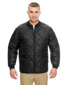 UltraClub 8467 Adult Puffy Workwear Jacket with Quilted Lining