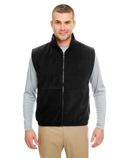 ultraclub 8486 adult iceberg fleece full-zip vest front image