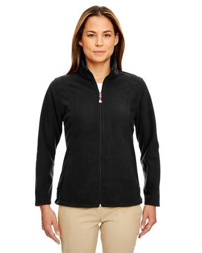 ultraclub 8498 ladies' microfleece full-zip jacket front image