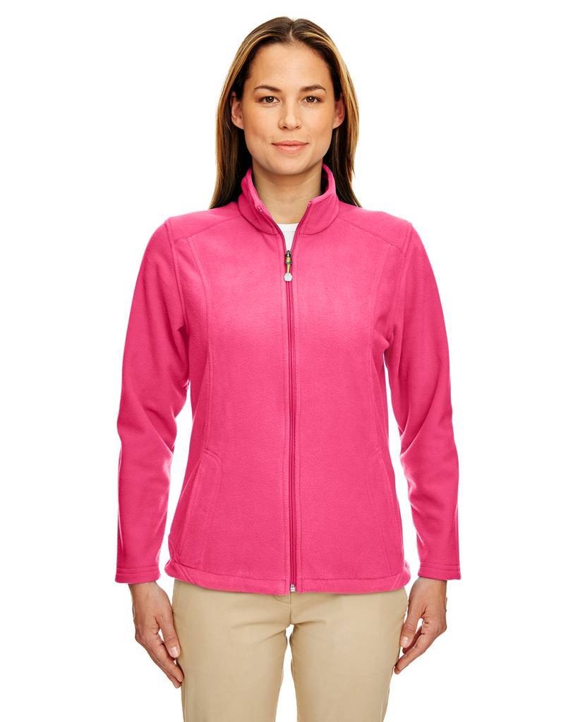 Ultraclub 8498 ladies 39 micro fleece full zip jacket for Zip front flannel shirt