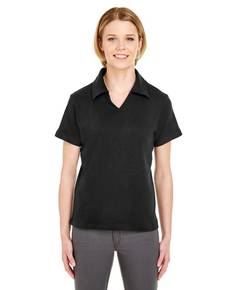 UltraClub 8507 Ladies' Egyptian Interlock V-Neck Polo