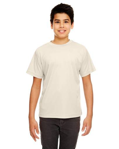 ultraclub 8420y youth cool & dry sport performance interlockt-shirt front image