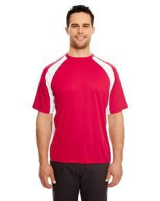 UltraClub 8421 Adult Cool & Dry Sport Two-Tone Performance Interlock T-Shirt