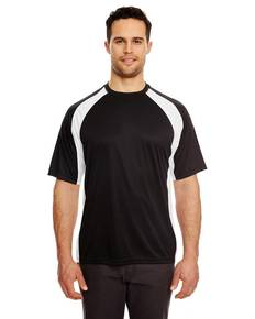 UltraClub 8421 Adult Cool & Dry Sport Two-Tone Performance Interlock T-Shirt