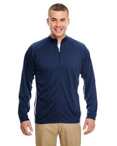 UltraClub 8432 Adult Cool & Dry Sport Quarter-Zip Pullover with Side Panels