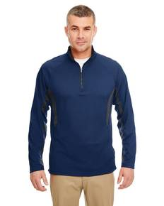 ultraclub-8434-adult-cool-amp-dry-colorblock-dimple-mesh-quarter-zip-pullover