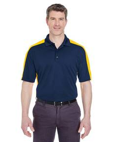 UltraClub 8447 Adult Cool & Dry Stain-Release Two-Tone Performance Polo