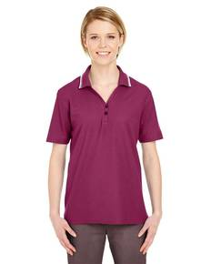 UltraClub 8546 Ladies' Short-Sleeve Whisper PiquéPolo with Tipped Collar