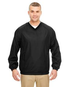 UltraClub 8937 Adult Micro-Poly V-Neck Windshirt