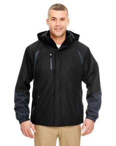 UltraClub 8939 Adult Colorblock 3-in-1 Systems Hooded Jacket