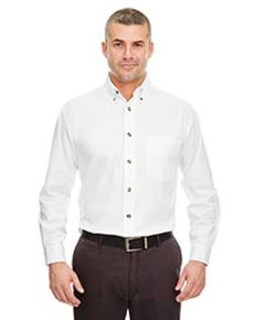 UltraClub 8960C Adult Cypress Long-Sleeve Twill with Pocket