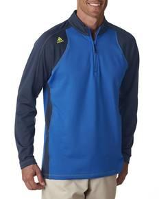 adidas Golf A276 Men's climawarm™+ 3-Stripes Colorblock Quarter-Zip Training Top