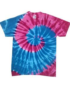 Tie-Dye Drop Ship CD1180 Adult 5.4 oz., 100% Cotton Islands Tie-Dyed T-Shirt