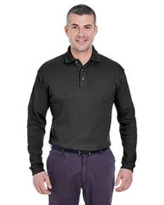 UltraClub U8501 Men's Egyptian Interlock Long-Sleeve Polo
