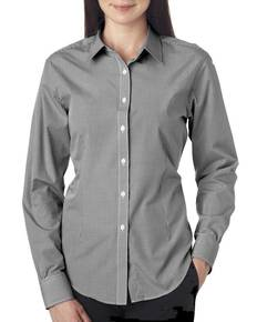 Van Heusen V0226 Ladies' Long-Sleeve Yarn-Dyed Gingham Check