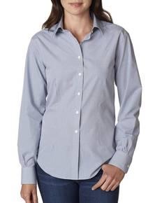 Van Heusen V0226 Ladies' Long-Sleeve Yarn-Dyed Gingham Check