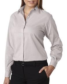 Van Heusen V0236 Ladies' Long-Sleeve Feather Stripe