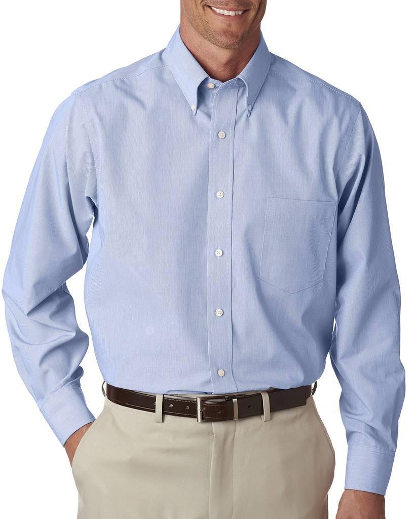 Van heusen v0420 men 39 s long sleeve non iron feather stripe for Van heusen non iron shirts